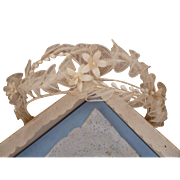 Delicious vintage French bride's tulle wax wedding crown : corsage : original box