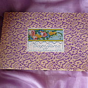 Charming old French Etrennes Tapestry presentation box with contents