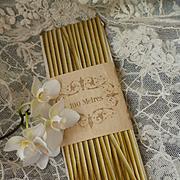 Pretty 19th C. unused narrow graduated ribbon : original shop packaging + 80 meters