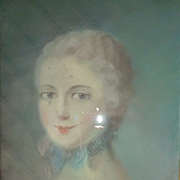 Decorative French pastel portrait painting Marie -Antoinette , circa 1900 ( no. 1 )