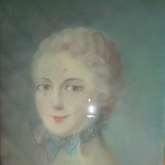 Decorative French pastel portrait painting Marie -Antoinette , circa 1900 ( no. 1 )