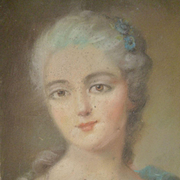 Delicious French pastel portrait painting : Marie Antoinette : circa 1900 ( no. 2 )