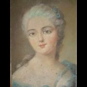 Delicious French pastel portrait painting : Marie Antoinette : circa 1900 ( no. 2 )