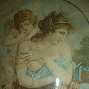 Enchanting French stipple engraving : Cupid chrub : classical scene: georgian period ( no. 2 )