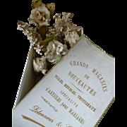 Faded grandeur French shop box : bride's artificial wedding flowers, circa 1900