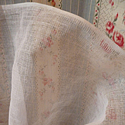 Vintage French white stiffening tulle fabric : dolls clothing sewing projects