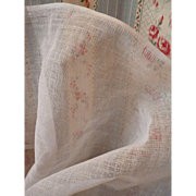 Vintage French white stiffening tulle fabric : dolls clothing hat sewing projects