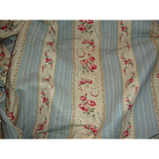 Delicious morceau French old fabric with rose basket : floral garland motifs 73 x 32 1/4 inches : projects