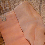 Vintage French light pink organdy type fabric : old shop stock : circa 1940 - 50's : dolls clothing projects