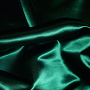 Small morceau 19th C. shimmering emerald green satin fabric : doll clothing projects