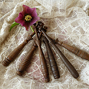 Decorative 19th C. French lace makers bobbins : Bayeux : Caen region Normandy  ( 6 )
