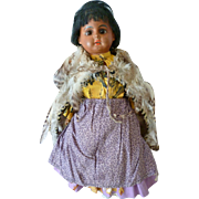 Pretty mulatto bisque head doll : Ernst Heubach : original clothing : 11 1/2 inches high