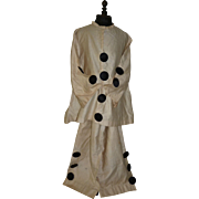 Charming hand made child's dressing up Pierrot costume : circa 1920