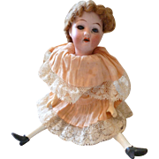 Mignonette bisque head girl doll Heubach Koppelsdorf : original dress 7 1/4 inches