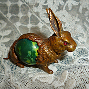 Whimsical late 19th C. novelty rabbit or hare sewing tape measure
