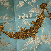 Faded grandeur 19th C. ormolu floral swag embellishment : roses : 19 x 7 inches projects