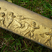 Frolicking cherubs  French repousse metal Frieze trim panel : 7 yards long : projects