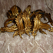 Faded grandeur antique French ormolu curtain rings : Louis XV Rococo style : 18 rings