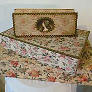 Batch delicious fabric covered boudoir boxes : bouquet roses : flowers  pink tones