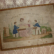 Utterly charming 19th C. French game : Le jeu du cheval blanc : circa 1830's