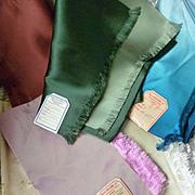 Batch French silk fabrics : original labels : Parisian soierie : 1900's : doll projects : ( 5 )