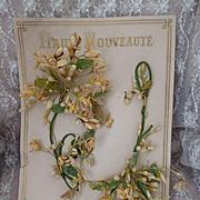 Delicious antique French bride's wax wedding crown : parure : shop packaging Haute Nouveaute