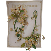 Delicious antique French bride's wax wedding crown : parure : shop packaging Haute Nouveaute
