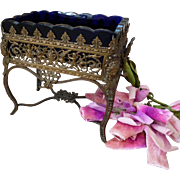 Ornate 19th C. French miniature furniture : cherub motifs : ideal fashion doll accessory