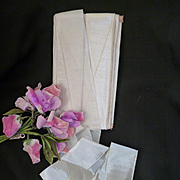 Delicious French cream silk taffeta ribbon : shop packaging : doll clothing hat projects: sold in 2 YARD LENGTHS