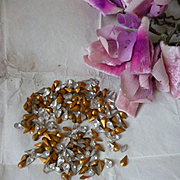 Batch French crystal teardrop faux jewels : old packaging : projects