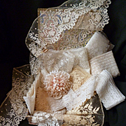 Decorative French fabric covered box brimming with old lace flounces ( 12 ) : projects