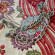 Decorative hand made French blue grey passementerie chain embellishments : doll projects   ( 2 )