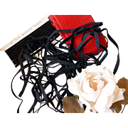 Pretty French narrow black velvet ribbons and red velvet ribbon : doll projects: Au bon Marche