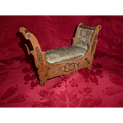 Opulent 19th C. French dolls miniature  furniture day bed : Louis Badeuille