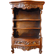 Unusual decorative French Provencal shelf box with drawer : musical instruments floral & foliage motifs