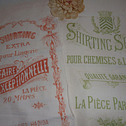 Decorative old printed shirting fabric shop advertising : circa 1900 : projects