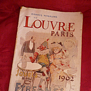 Rare French Etrennes Toy Doll catalogue : Grands magasins du Louvre Paris : dated 1902