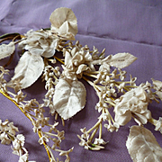 Delicious batch French millinery artificial floral sprays and sprigs : circa 1900 : doll projects