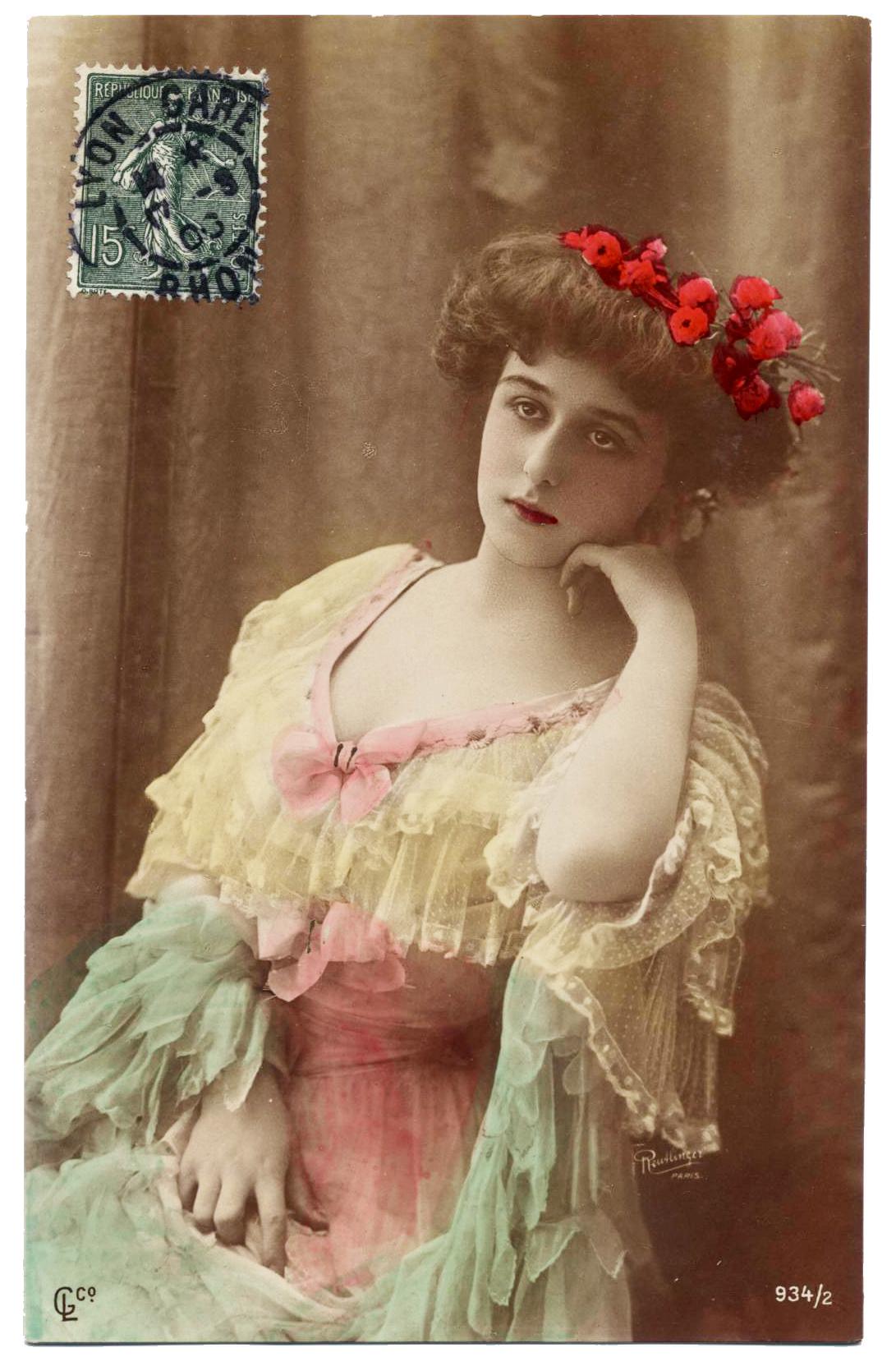1906 Actress ROBINNE Uranotype Reutlinger Photo Postcard