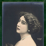 La Belle Otero (Caroline)  Folies Bergeres Reutlinger Real Photo Postcard UNUSED