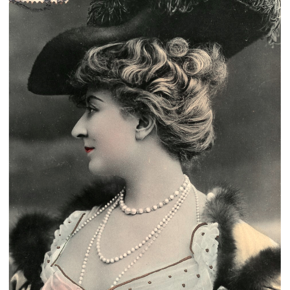 Belle Epoque Actress Cecile Sorel 1906 Postcard Real Photo by Reutlinger