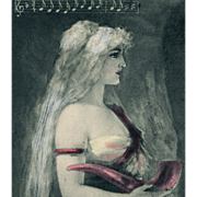 Sieglinde from Wagner's Ring Cycle Opera Postcard by Hans Schlimarski