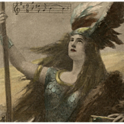 Brunhilde from Wagner's Ring Cycle Opera Postcard 1908 Artist Signed