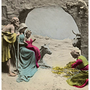 Unused Colorized Mastroianni Noel Nativity Magi Scene Postcard