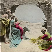 Unused Colorized Mastroianni Noel Nativity Magi Scene Postcard
