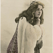 French Glamour Postcard of Actress Maud Amy Real Photo by Reutlinger