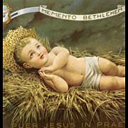 Catholic Holy Card Bethlehem Memento Baby Jesus 1962