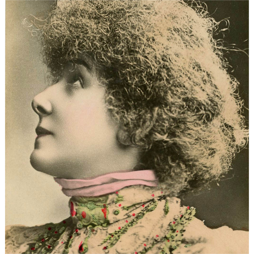 Sarah Bernhardt Real Photo Colorized Antique French Postcard