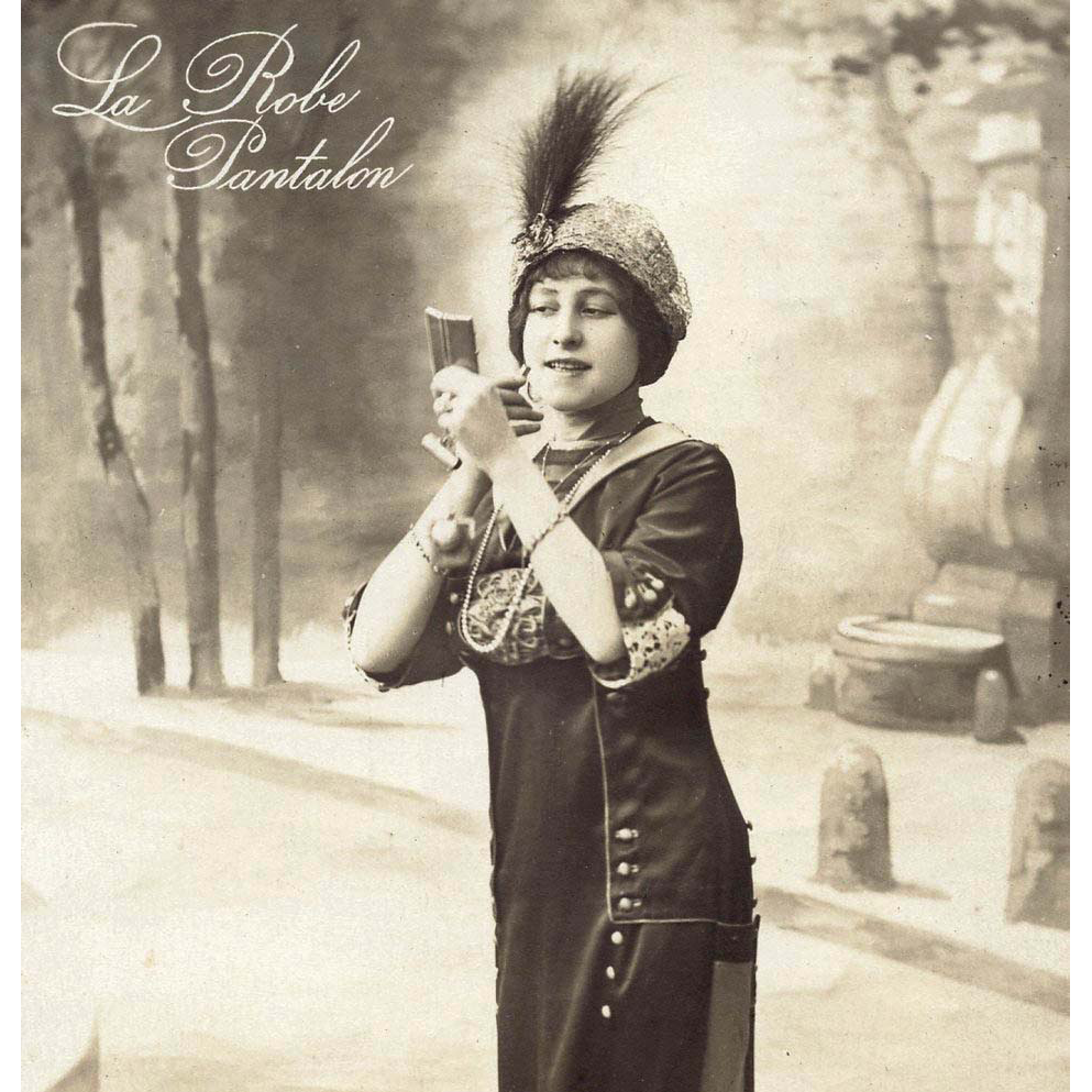 Antique French Fashion Postcard Real Photo by Manuel of La Robe Pantalon