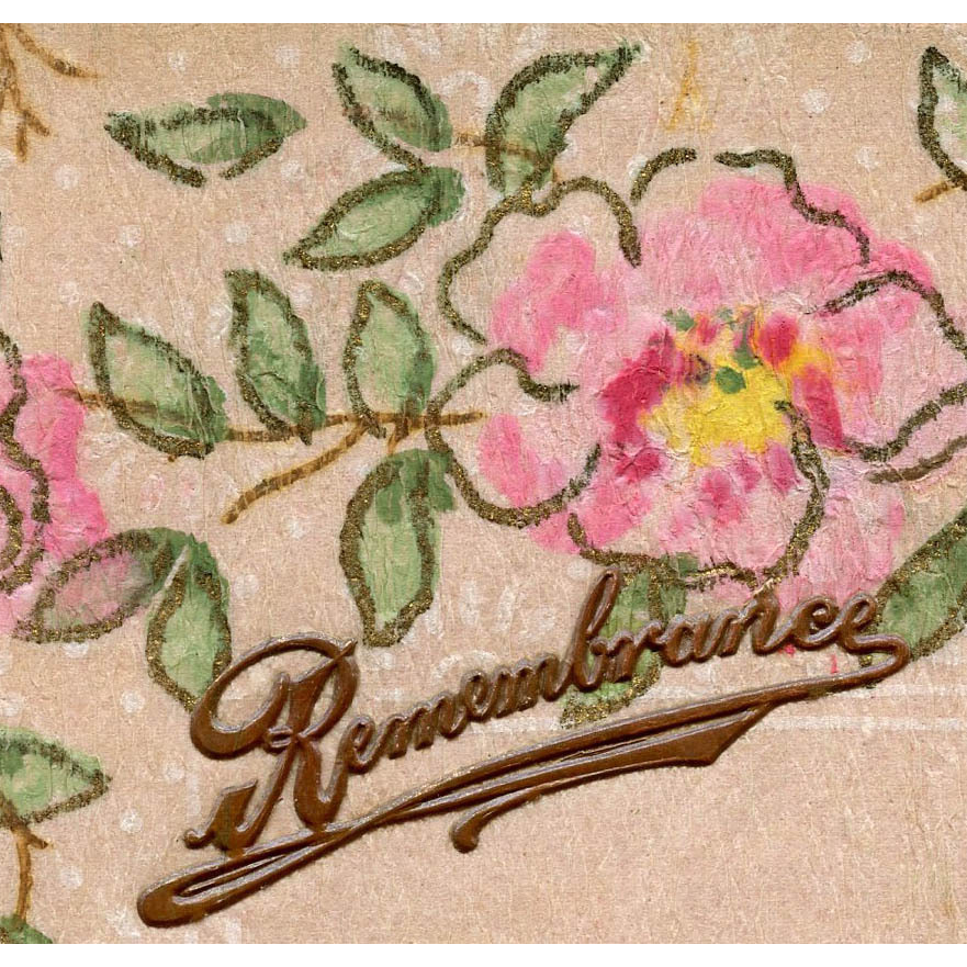 Hand-painted Country Roses Perfume Sachet Postcard from England
